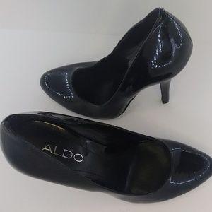 "Aldo classic stiletto pumps 4""heels patent leather"